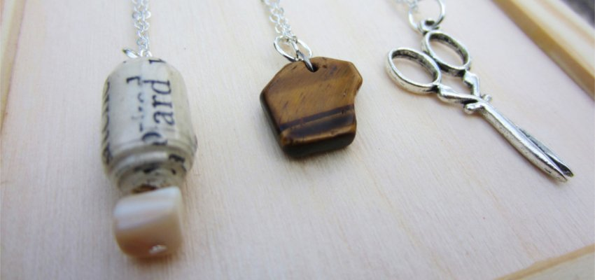 rock paper scissors best friends necklaces