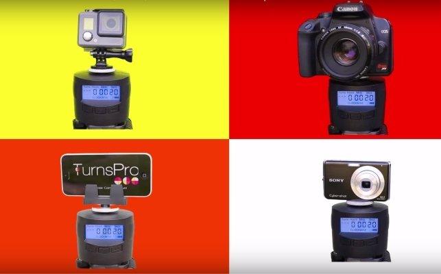 rotating time lapse camera mount