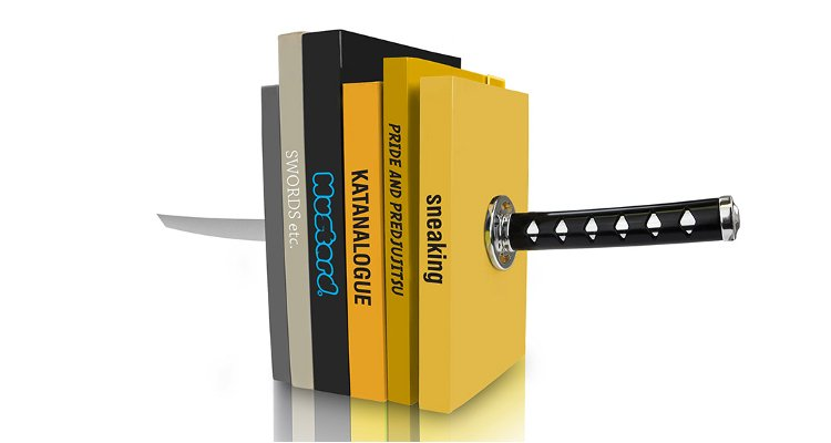 samurai sword bookends