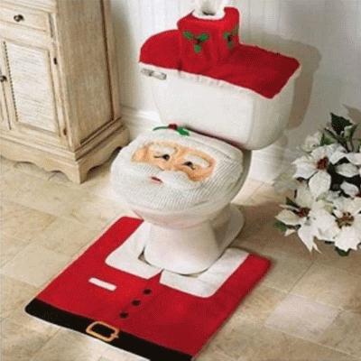 Santa Toilet Seat Cover Set