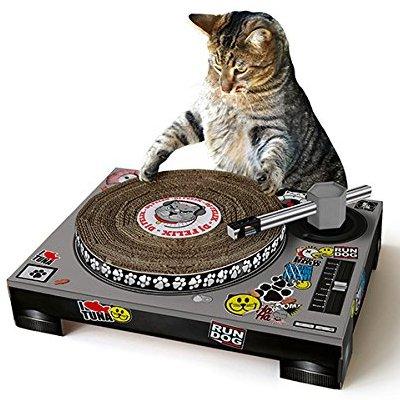 Scratchable Cat DJ Deck