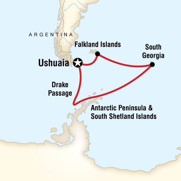 shackleton adventure tour map
