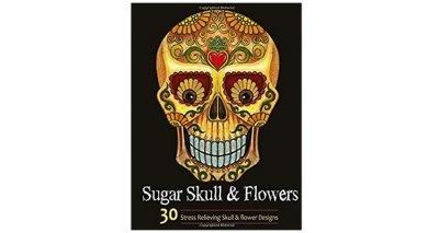 skull colouring book