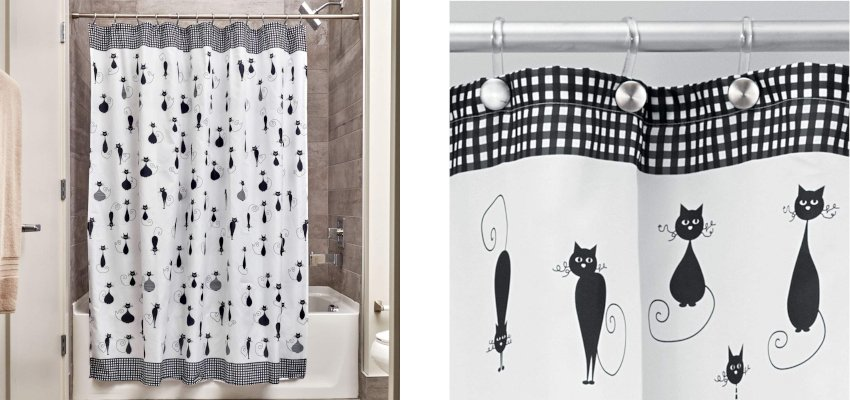 sophisticated cat shower curtain