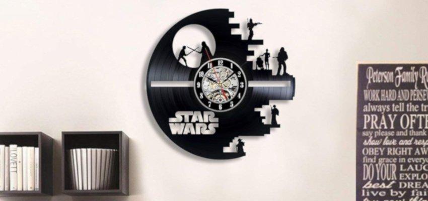 star wars vinyl record clock