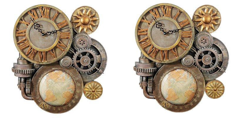 steampunk gears clock