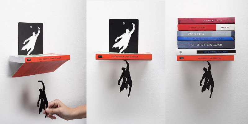 Superhero Floating Bookshelf 1