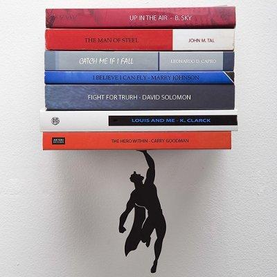 Floating Superhero Bookshelf
