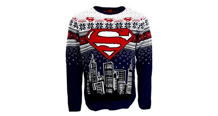 superman knitted christmas jumper