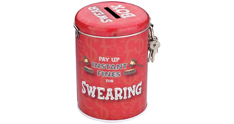 swear box tin