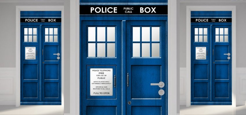 tardis door sticker 1