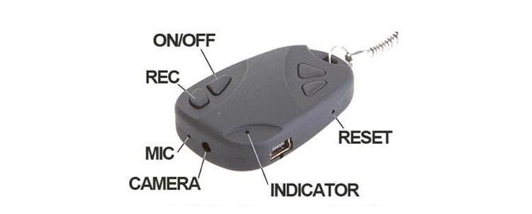 tiny discreet keychain camera