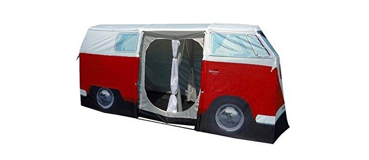 vw campervan tent side