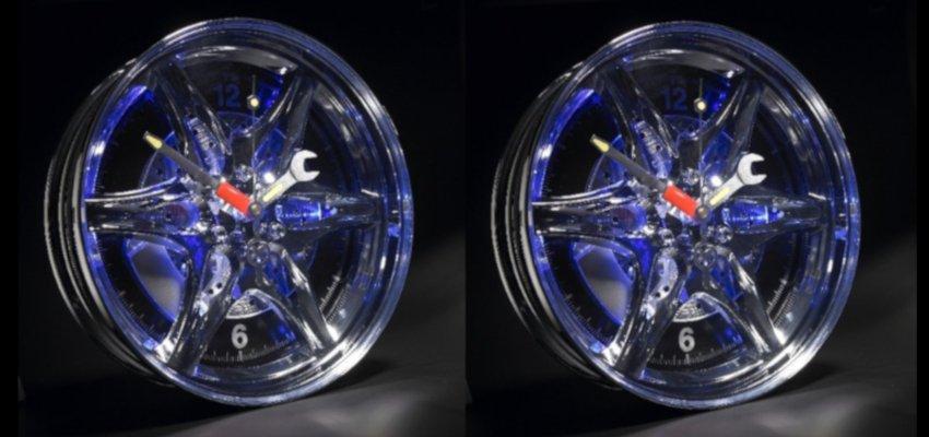 wheel rim clock