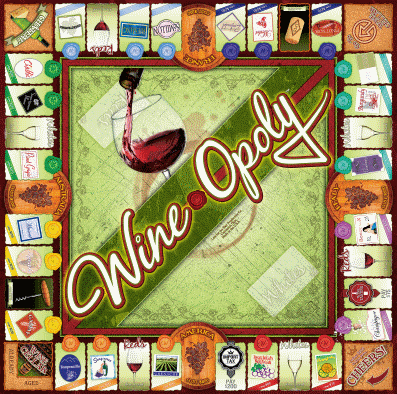 wineopoly board game top view